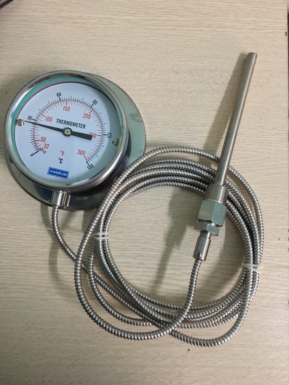 Đồng hồ nhiệt dây 3m, dải nhiệt 0-150oC