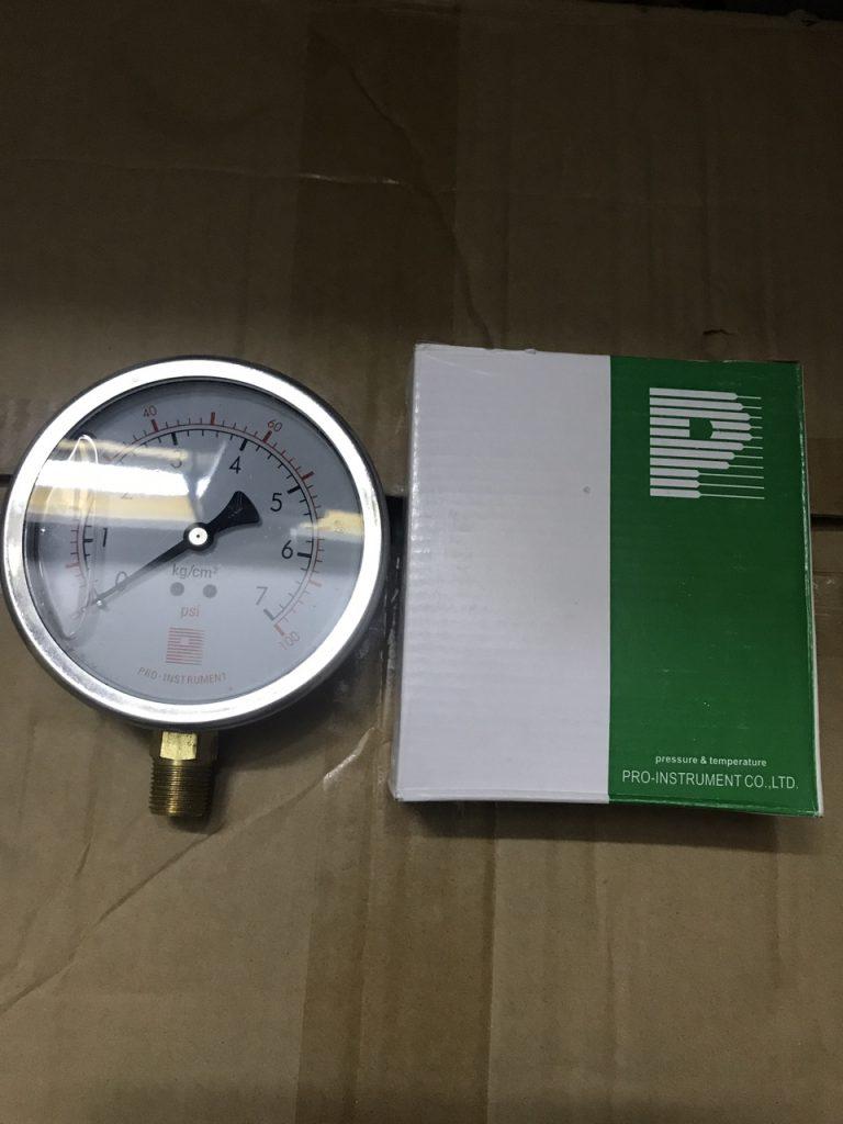 Đồng hồ áp lực Prointrument mặt 63mm 0-7kg/cm