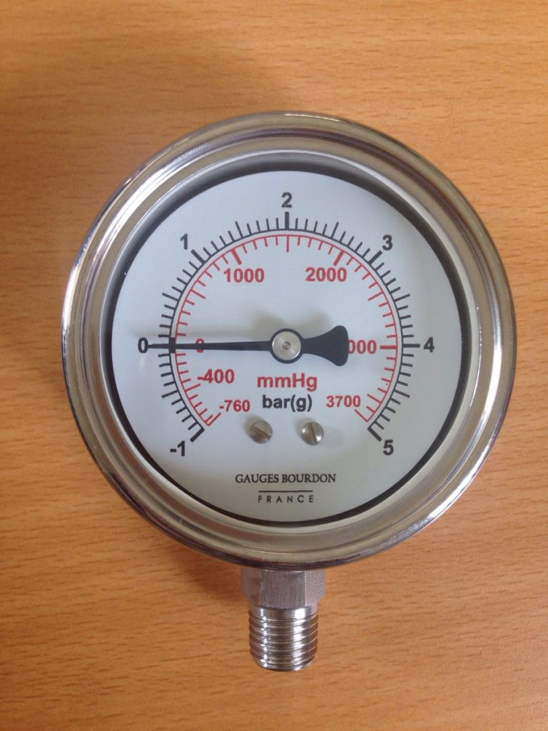 Đồng hồ đo áp suất chân không dải đo -1-5 bar