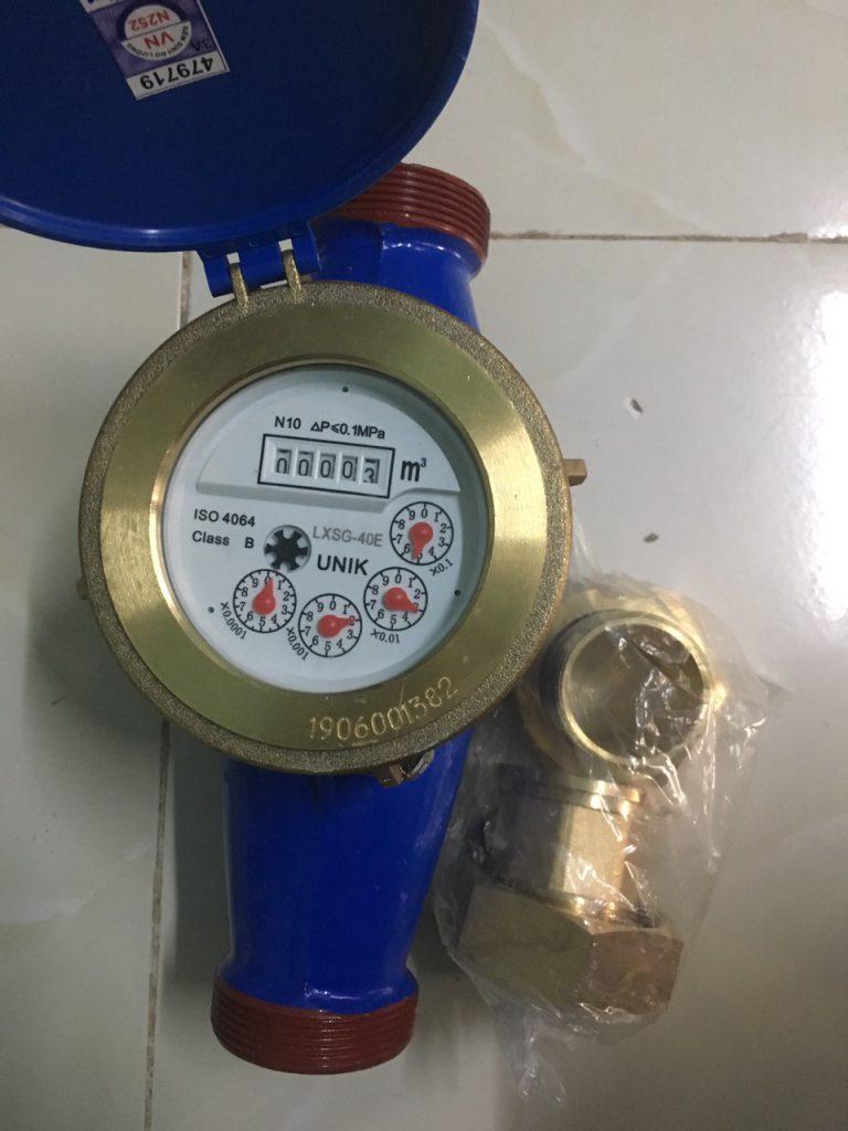 Đồng hồ nước lắp ren UNIK Đài Loan Dn40