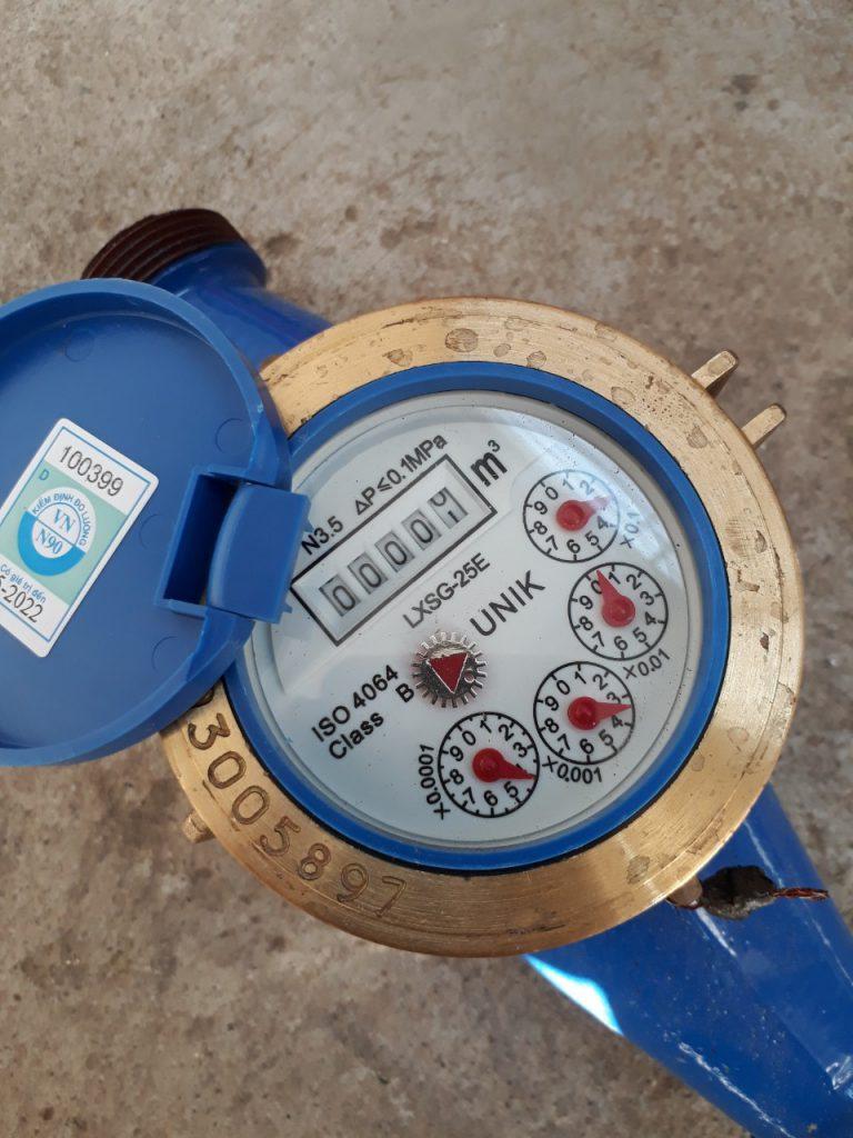 Đồng hồ nước lắp ren UNIK Đài Loan