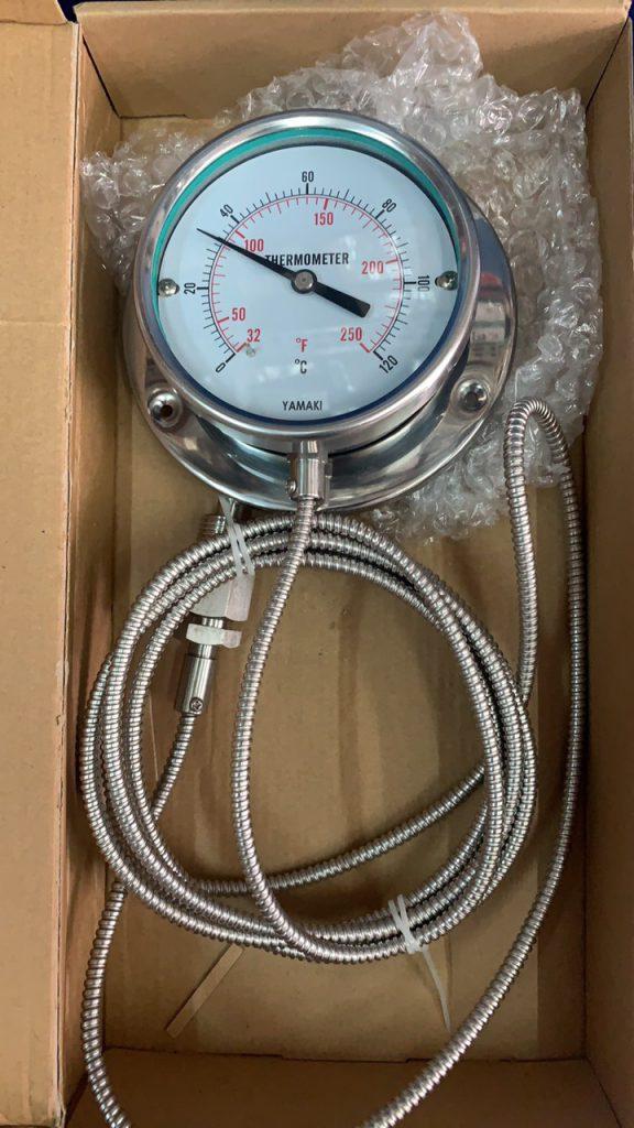 Đồng hồ nhiệt dây 3m. mặt 100 120oC