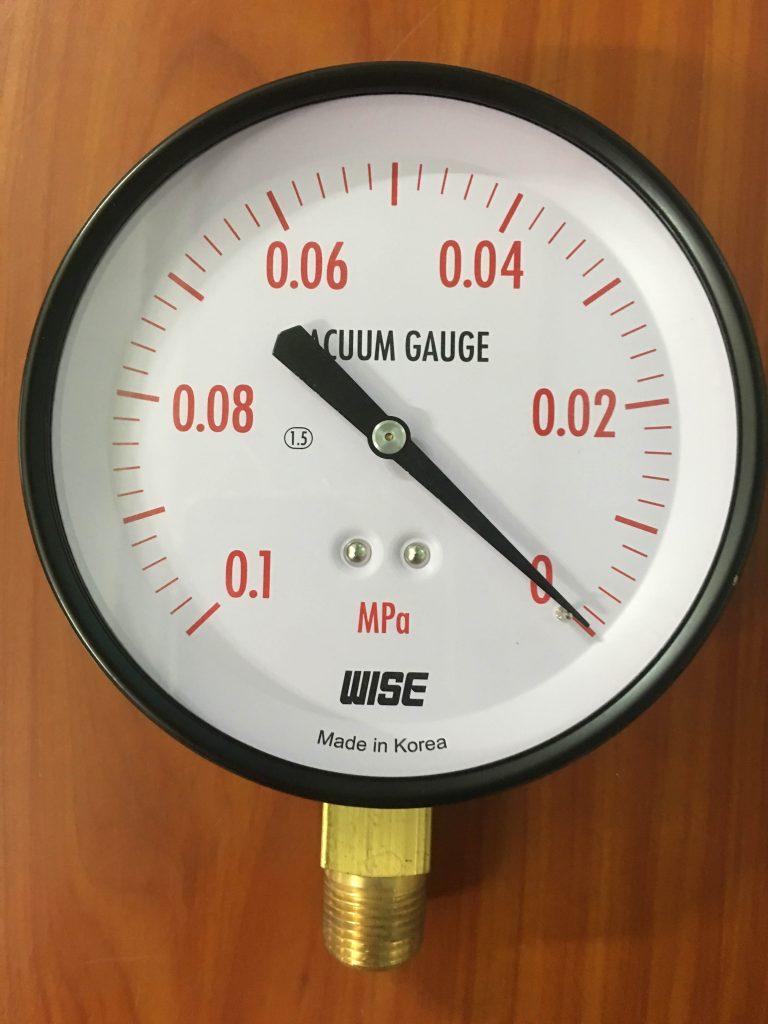 Đồng hồ hút ngược dải đo -0.1 Mpa -0 bar
