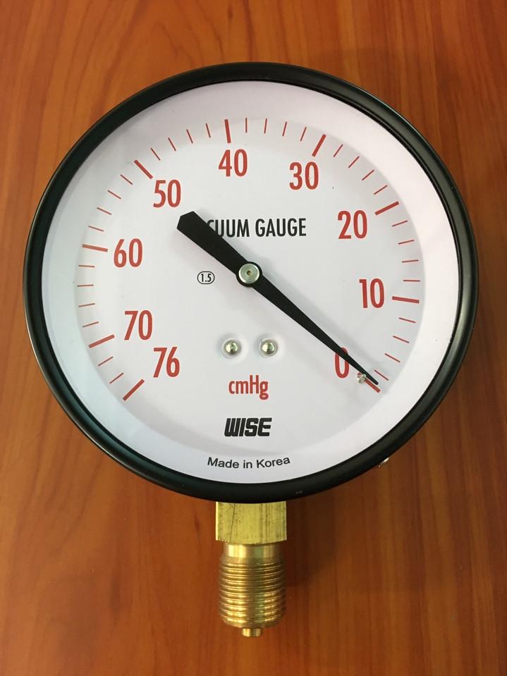 Đồng hồ áp suất chân không -76cmHg - 0 bar