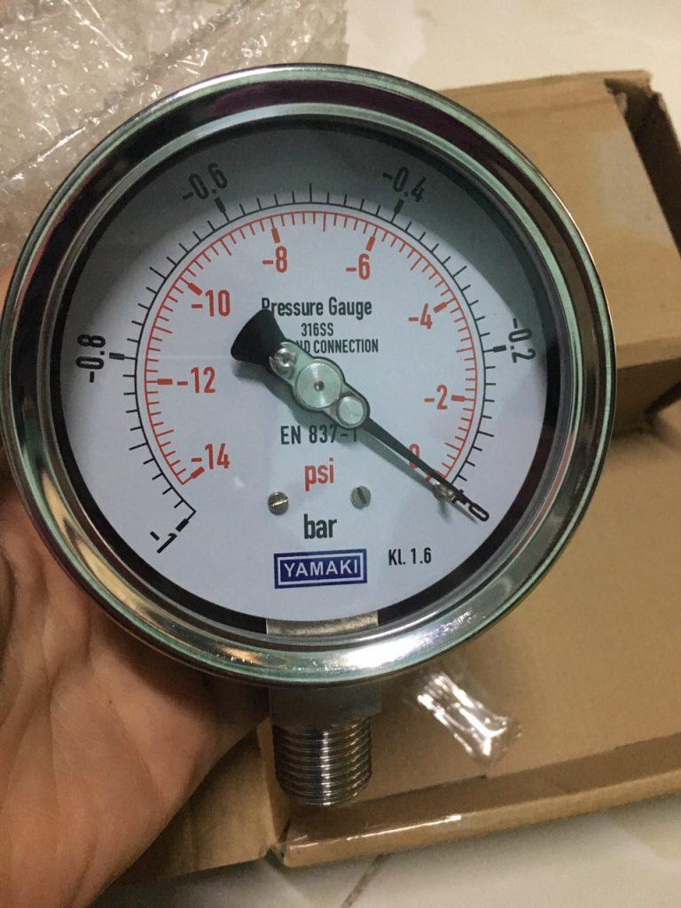 Đồng hồ đo áp suất âm Yamaki - Đài Loan