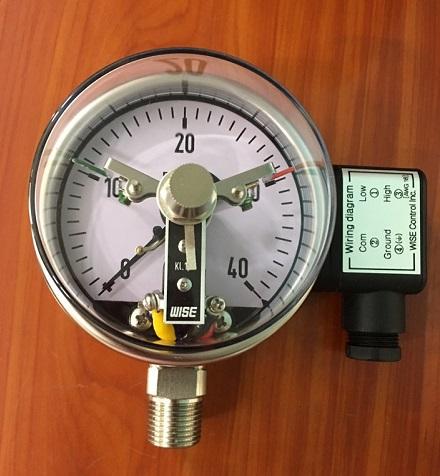 Đồng hồ đo áp suất 3 kim có tiếp điểm điện