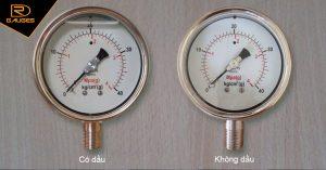 Đồng hồ đo áp suất không dầu và có dầu