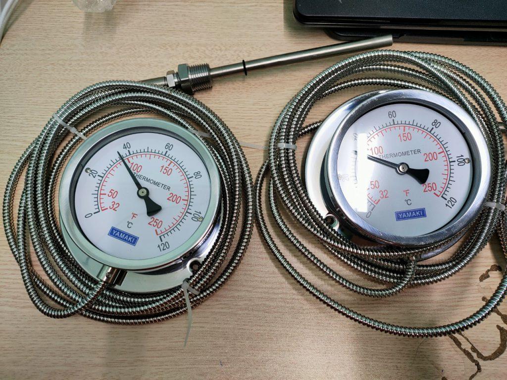 Đồng hồ đo nhiệt độ dây 3m, 0-120oC, chân que đo 150mm