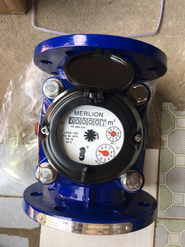 Đồng hồ nước Merlion Lắp bích