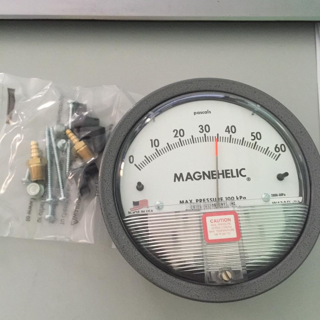 Đồng hồ đo chênh áp 0-60PA