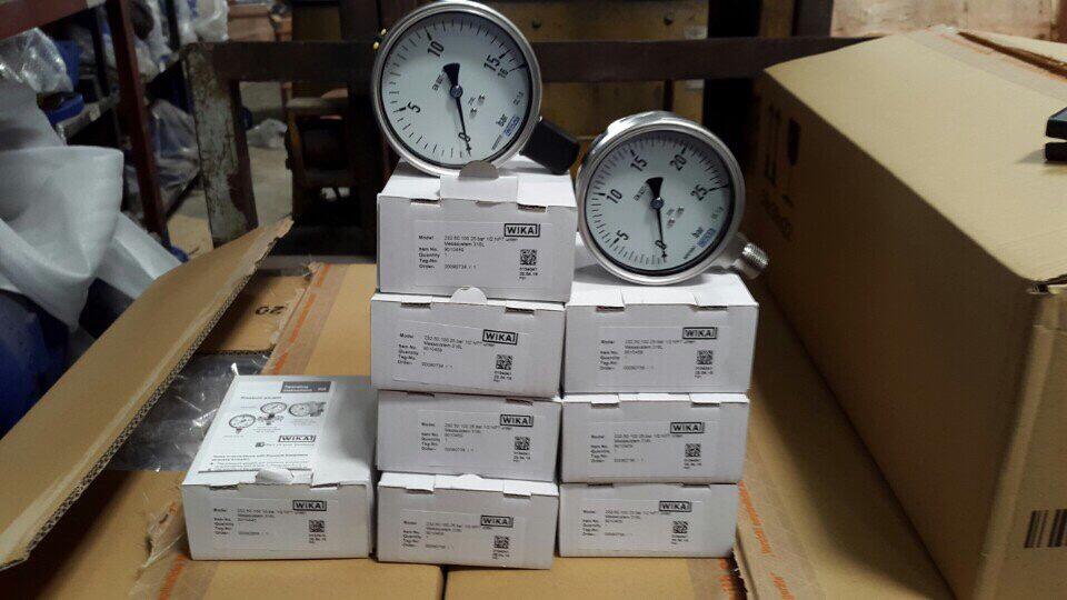 Đồng hồ áp suất wika model 232.50 mặt 100