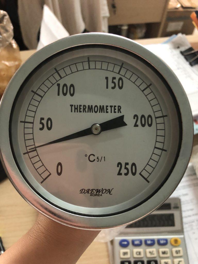Đồng hồ đo nhiệt độ lò hơi chân sau 250oC mặt 100mm
