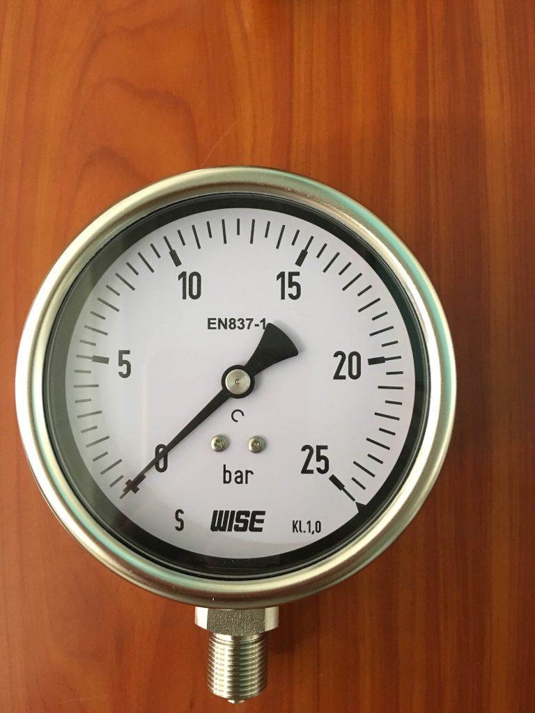 Đồng hồ áp suất 25 bar P252-100A 25bar , hàng Wise Hàn Quốc