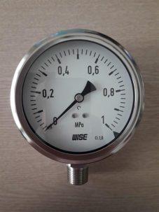 Đồng hồ đo áp suất Wise mặt 100 0-1 MPA