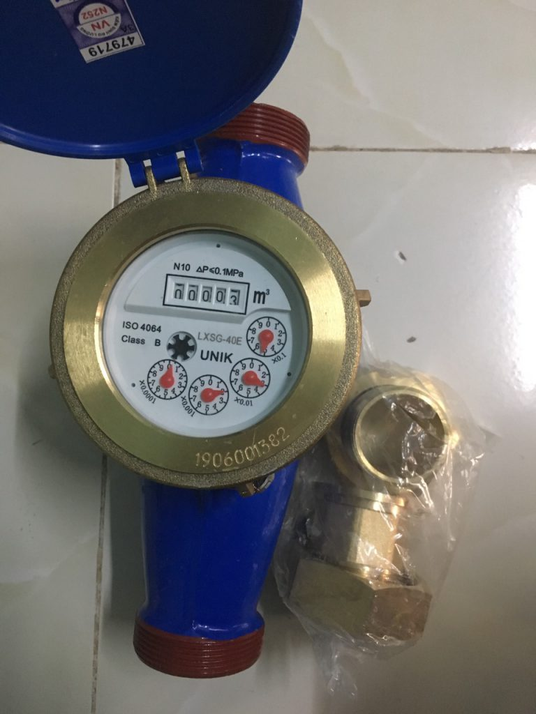 Đồng hồ nước UNIK D40 lắp ren