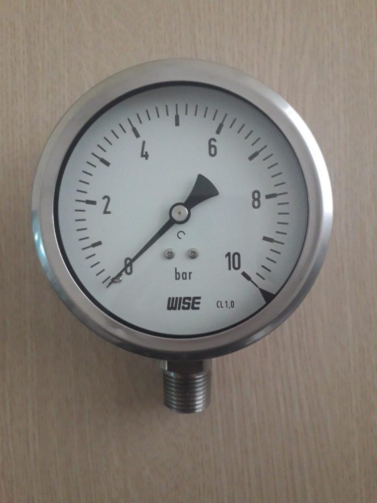 Đồng hồ đo áp suất wise P255 10 bar